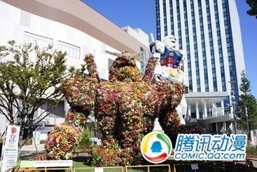"""巨大""""高达""""园艺雕塑现日本台场"""