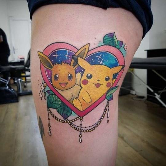 欧美玩家狂爱《宝可梦》忍痛纹身小精灵