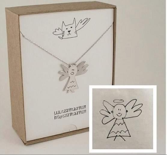 独一无二!土耳其珠宝品牌将小朋友画作做成首饰