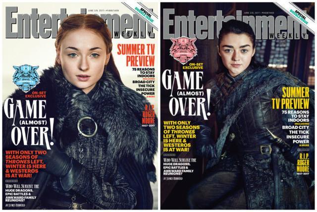 狼家合体!《权力的游戏》登《娱乐周刊》封面