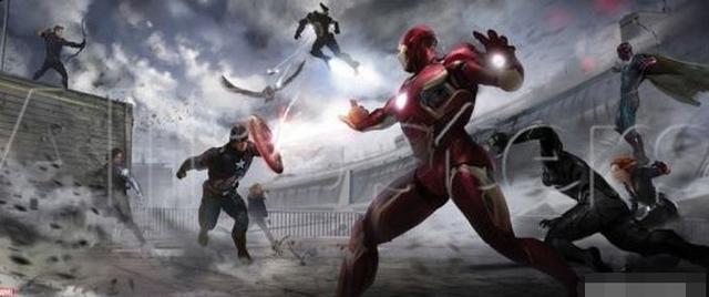 《美国队长3》概念图:盾铁两阵营惨烈互殴