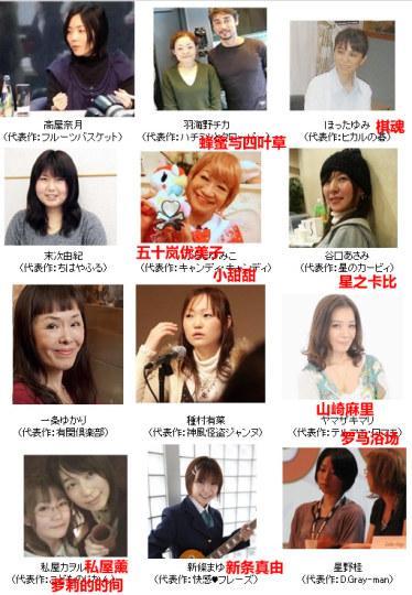 日本知名女性漫画家颜值大公开