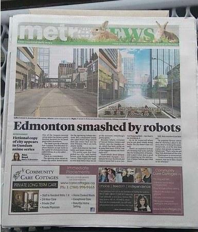 看到自己家乡被毁,加拿大人民很兴奋!