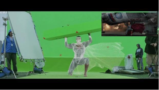 果然是假披风 扎导公开《蝙超》12分钟特效制作画面