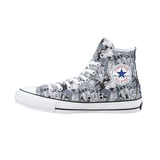 把罗踩脚下《航海王》x匡威推出联动帆布鞋