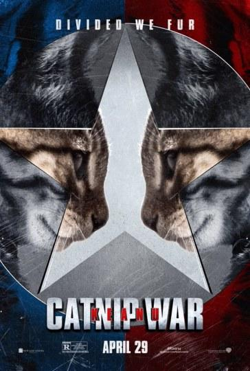 基努猫恶搞《美国队长3》海报