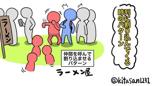滚铁环的技巧讲解图-去吃饭时排队,结果前面的人叫后面来的朋友排在自己前面,这无疑会图片