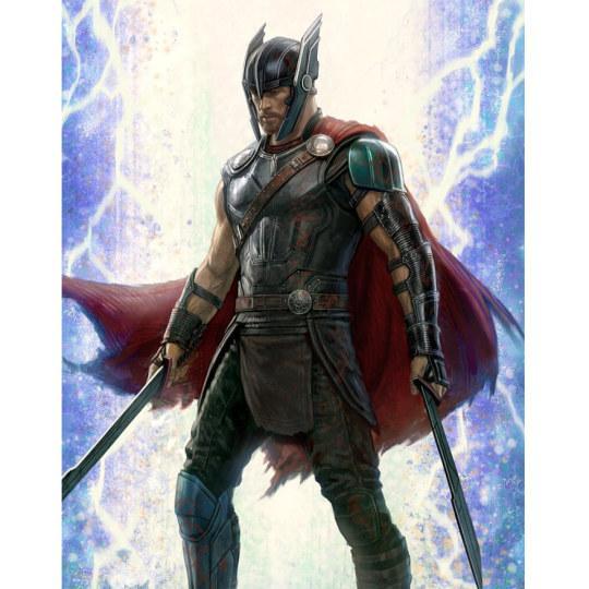《雷神3》概念图曝光 短发锤哥霸气持剑