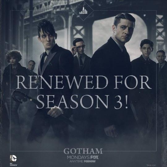 福克斯续订《哥谭》第三季
