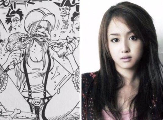 日网友拟妄想版《航海王》女性角色真人演员名单