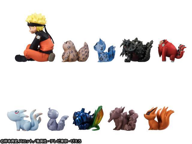 《火影忍者》鸣人和9只尾兽手办