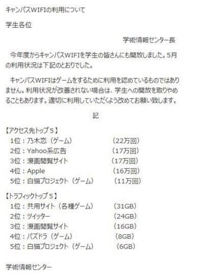 日本大学决定关闭免费wi-fi