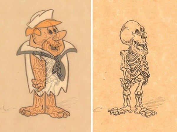 解剖的科学!插画家绘卡通人物骨骼