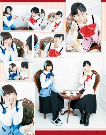 亲密互动喂食!美女声优佐仓绫音与水濑祈拍摄《点兔》福利特辑