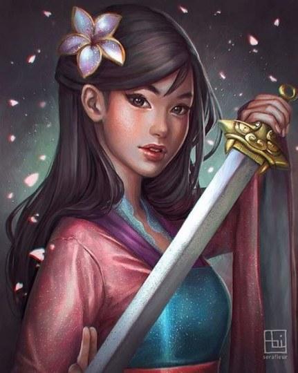 外国画师笔下超美女主角受追捧