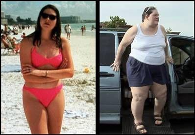 美国曼妙女模特变肥胖女巨人图