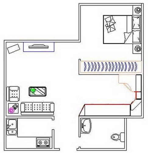 家具透视图cad