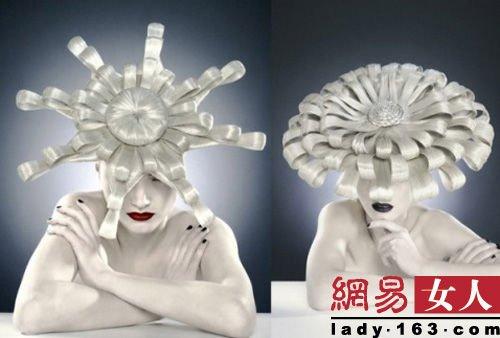 时尚创意发型 彩妆人物图片