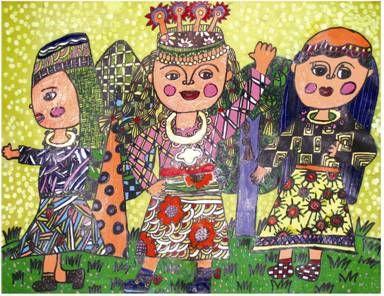 学生接受儿童油画; 儿童获奖美术作品_儿童获奖绘画作品_获奖儿童画图片