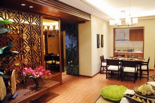 东南亚风格度假酒店建筑su模型   成都东南亚风格家装图