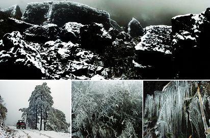 黔江迎来今冬首场大雪