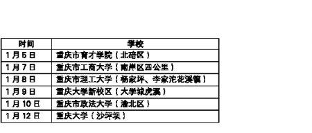 春运30日开始 重庆6高校校内直接售票