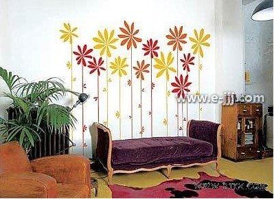 2010年装修新元素 清新淡雅的手绘墙