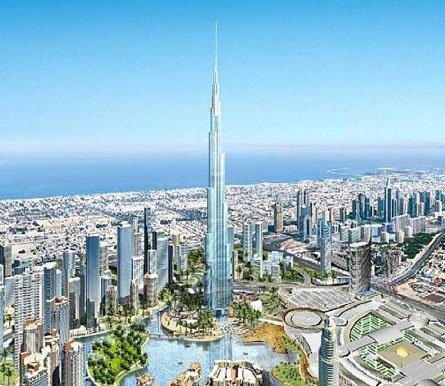 迪拜塔的修建历程