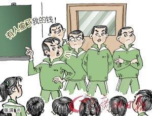 """初中生怀疑同学偷钱 集体施""""家法"""""""