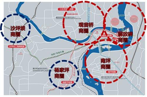 重庆主城六区地图