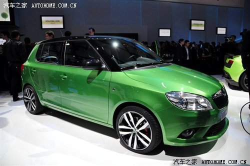 实车亮相 斯柯达将发布Fabia RS版车型