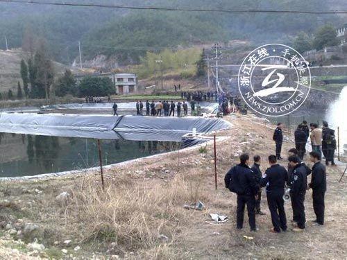 农村鱼塘设计图 岸边展示