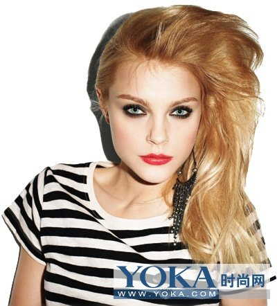 欧美美妆 妆容发型完美结合图片