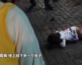 两岁女童窗台坠落