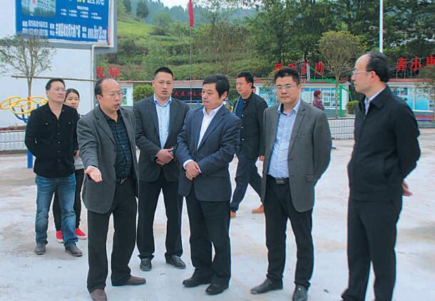 丰都县委书记徐世国在龙河镇调研经济社会发展工作