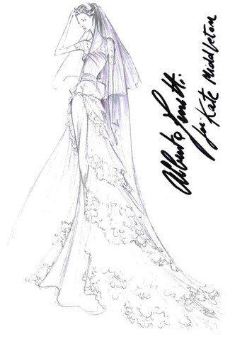 名家婚纱手稿 教新娘如何选嫁衣