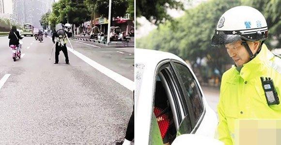 重庆辅警抱老人过马路成网红 百万网友点赞