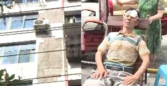 外墙瓷砖脱落太吓人 路人头部被砸缝10针