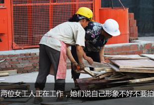 高温下的建筑工人