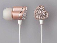 情人节专供 玫瑰版女性专用宝石耳机