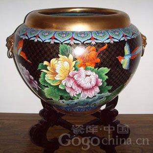 花甲壳的工艺品-景泰蓝手工艺品鱼缸-景泰蓝在生活中绽放的艺术品之花