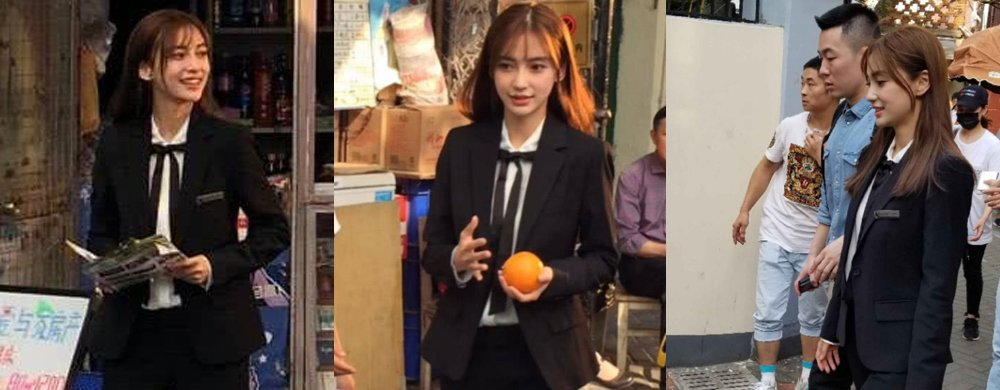 Baby片场清纯打扮似大学生,齐刘海造型重回颜值巅峰