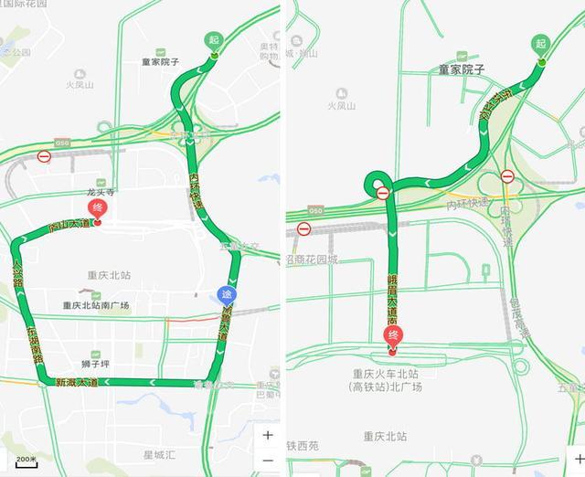主城新开放两条立交匝道 从机场到火车北站节省15分钟