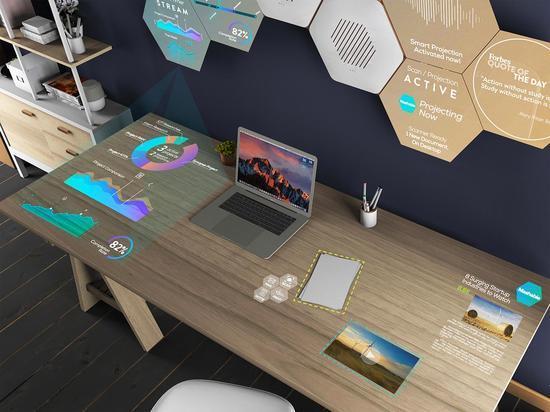 科幻片成为现实 超惊艳智能办公桌面图片