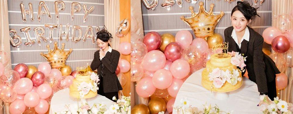 赵丽颖32岁庆生照曝光,当妈后气质温柔笑容甜,颜值美翻