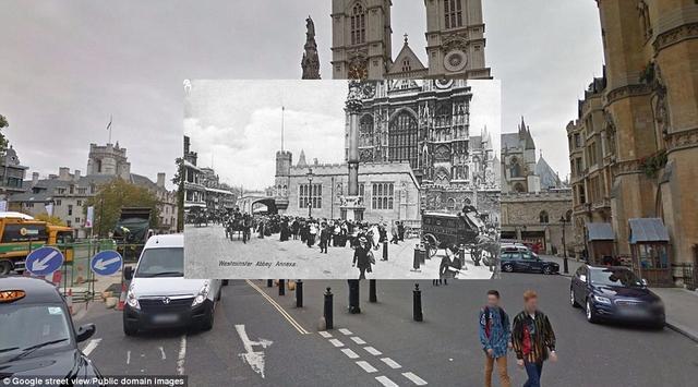 """伦敦""""穿越照""""展城市百年风貌"""