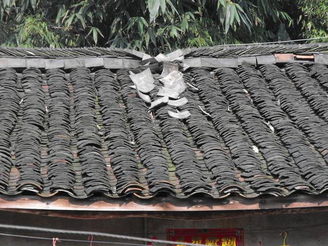 砖木结构房屋屋脊轻微破坏