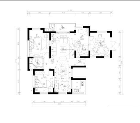 室内装修设计平面图,房屋建筑cad平面图