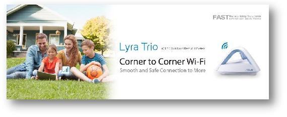 大户型标配 华硕Lyra Trio智能分布式路由来临