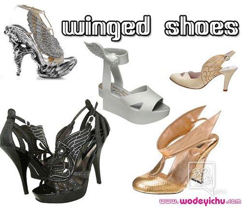 2010鞋履潮流 带翅膀的鞋